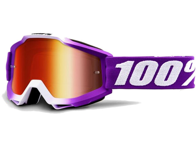 100% Accuri Anti Fog Mirror Goggles framboise